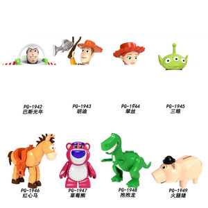 2020 Disney Toys Story 4 Woody Jessie Toy Aliens Buzz Lightyear Building Blocks Toy for kids PG8222(China)