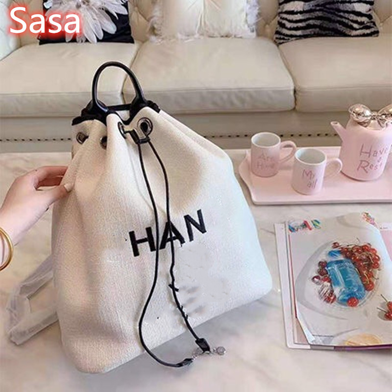 Sasa Women Bag Korean Style Cotton And Linen High Quality Travel Shoulder Bag Campus Handbag Shopping Bag For Women Large Size