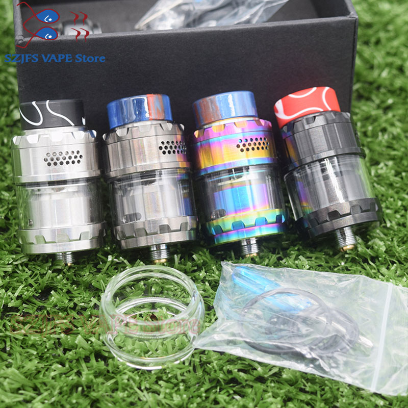 Yftk Kylin M RTA Rebuildable 3ml/4.5ml 24mm Tank Atomizer Top Honeycomb Airflow Large Build Deck Vaporizer Vape Tank Vs Zeux Rta
