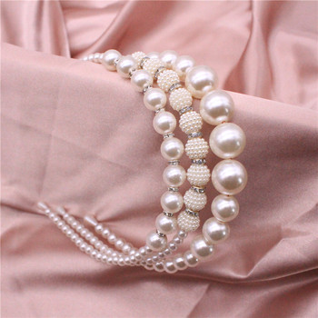 Spring And Summer New Pearl Rhinestone Headband European American Fashion Texture Advanced Hair Accessories