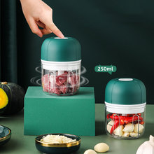 250ml Electric Garlic Chopper Household Portable USB Charging Chili Crusher Mini Meat Grinder Baby Complementary Food Mixer