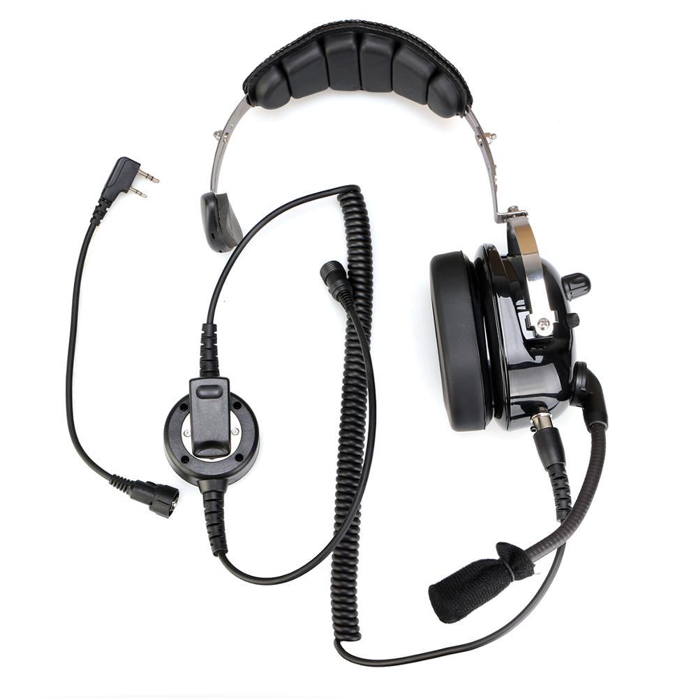 EHK005 2 Pin Noise Cancelling Walkie Talkie Single Headset Adjustable Volum