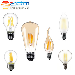 220v LED Filament Bulb 5pcs/10pcs/lot E27 Dimmable LED edison lamp E14 warm white 2850K vintage LED light bulbs
