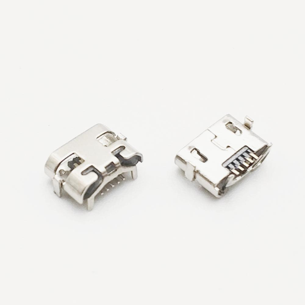 100pcs Micro USB 5pin DIP2 Mini Connector Mobile Charging Port For HUAWEI HONOR Play Freely Y5