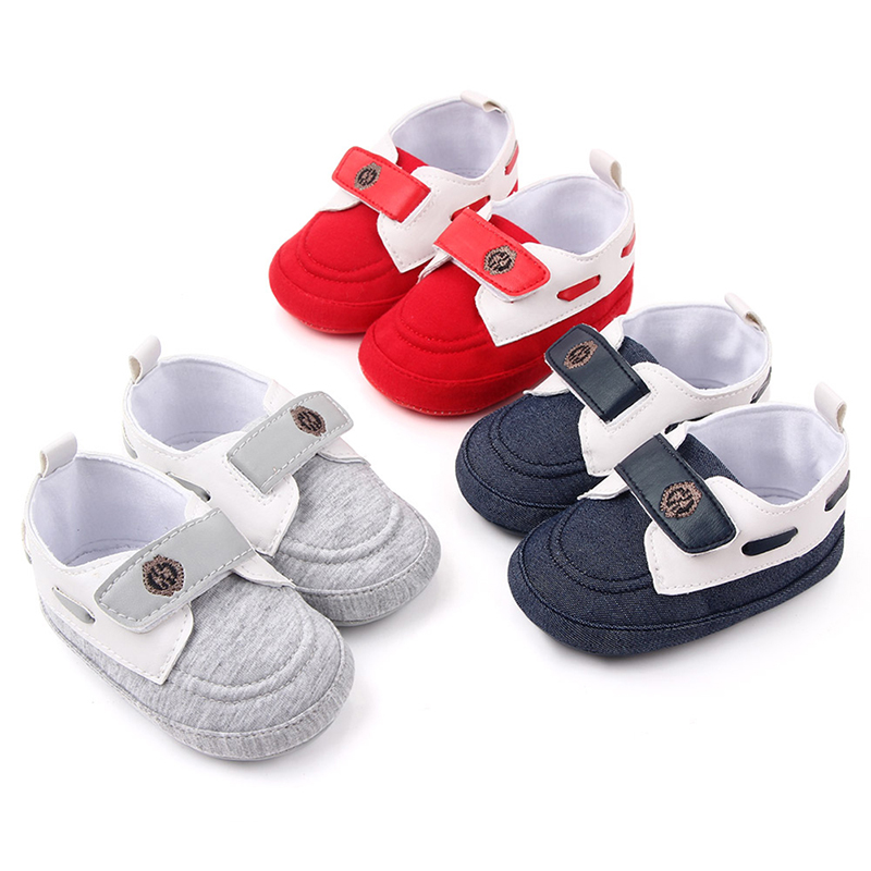 Newborn Baby Boy Girl Shoes Sneaker Lovely Anti-slip Letter Classic Soft Sole Toddler Shoes First Walkerss