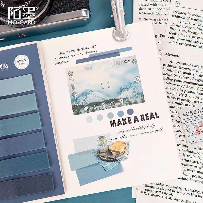90 Pcs Gradien Memo Pad Sticker Notepad Kawaii Dekorasi Lengket Catatan Cute Diy Jelas Korea Stationery Bullet Journal