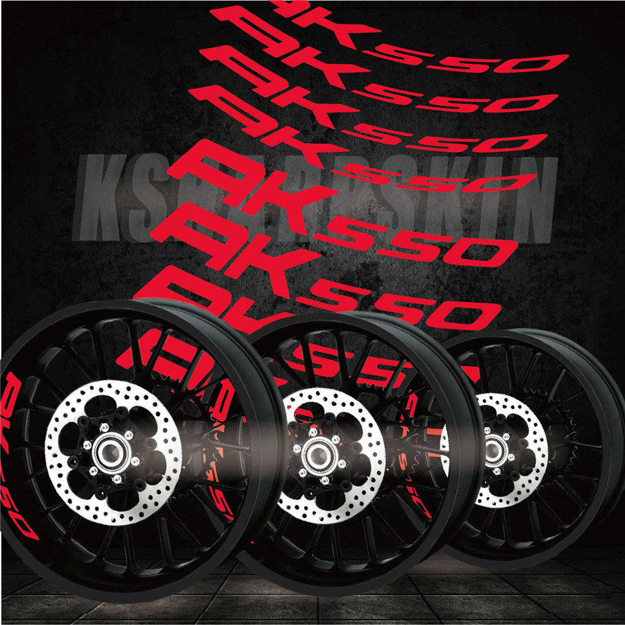 Best Selling Modified Motorcycle Personality Creative Wheel Accessories Reflective Interior Side Decals For KYMCO AK550 Ak 550