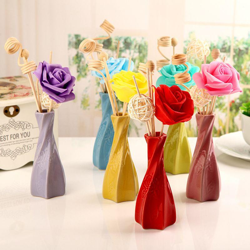 Новое поступление 6 цветов беспламенный ароматерапия эфирное масло длительный аромат запах воздуха свежий аромат