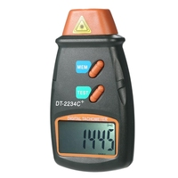 Digital Tachometer Rpm Meter Non-Contact 2.5Rpm-99999Rpm Lcd Display Speed Meter Dt2234C Tester Speed