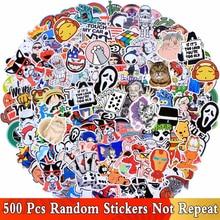 Random 500 PCS / Lot Mix Funny JDM Stickers For Car Laptop Kids Skateboard Motorcycle Furniture Decal DIY Toy Waterproof Sticker