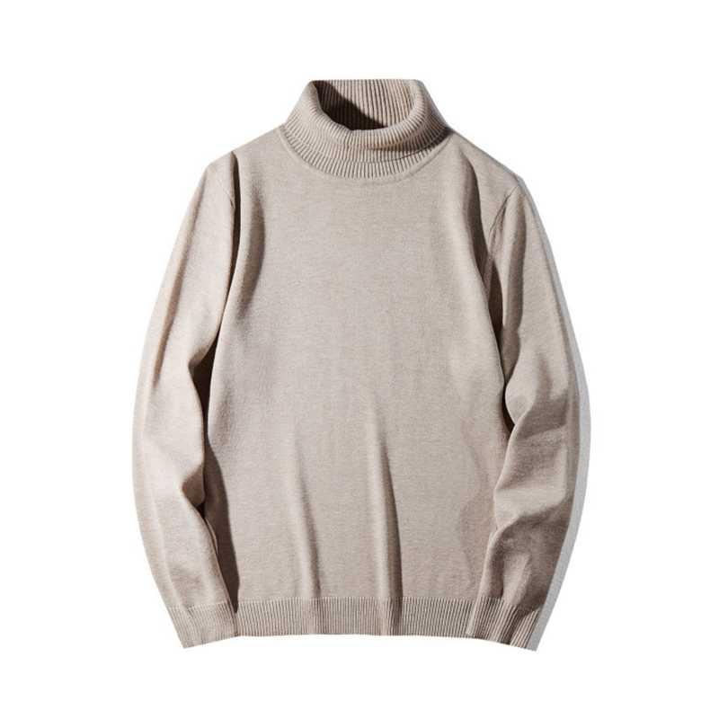 Plus rozmiar golfem solidny sweter duży męski zimowy nowy ciepły dzianinowy luźny sweter szary czarny mężczyzna z nadwagą XXL 3XL 4XL 5XL 6XL 7XL