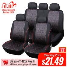 AUTOYOUTH Fundas de asiento de coche estilo balón de fútbol, tela Jacquard, ajuste Universal, la mayoría de las marcas, accesorios de Interior de vehículo