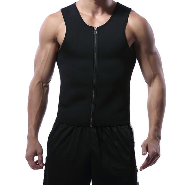 Miss Moly Men Shapers Waist Trainer Body Shaper Sauna Sweat Suit Bodysuit Men Slimming Belt Workout Fitness Tops