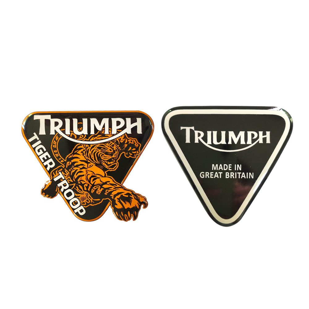 3D Motorcycle Bicycle Fuel Tank Rectifier Notebook Luggage Helmet Creative MOTO Sticker For Triumph Tiger  Logo Triangle Decals