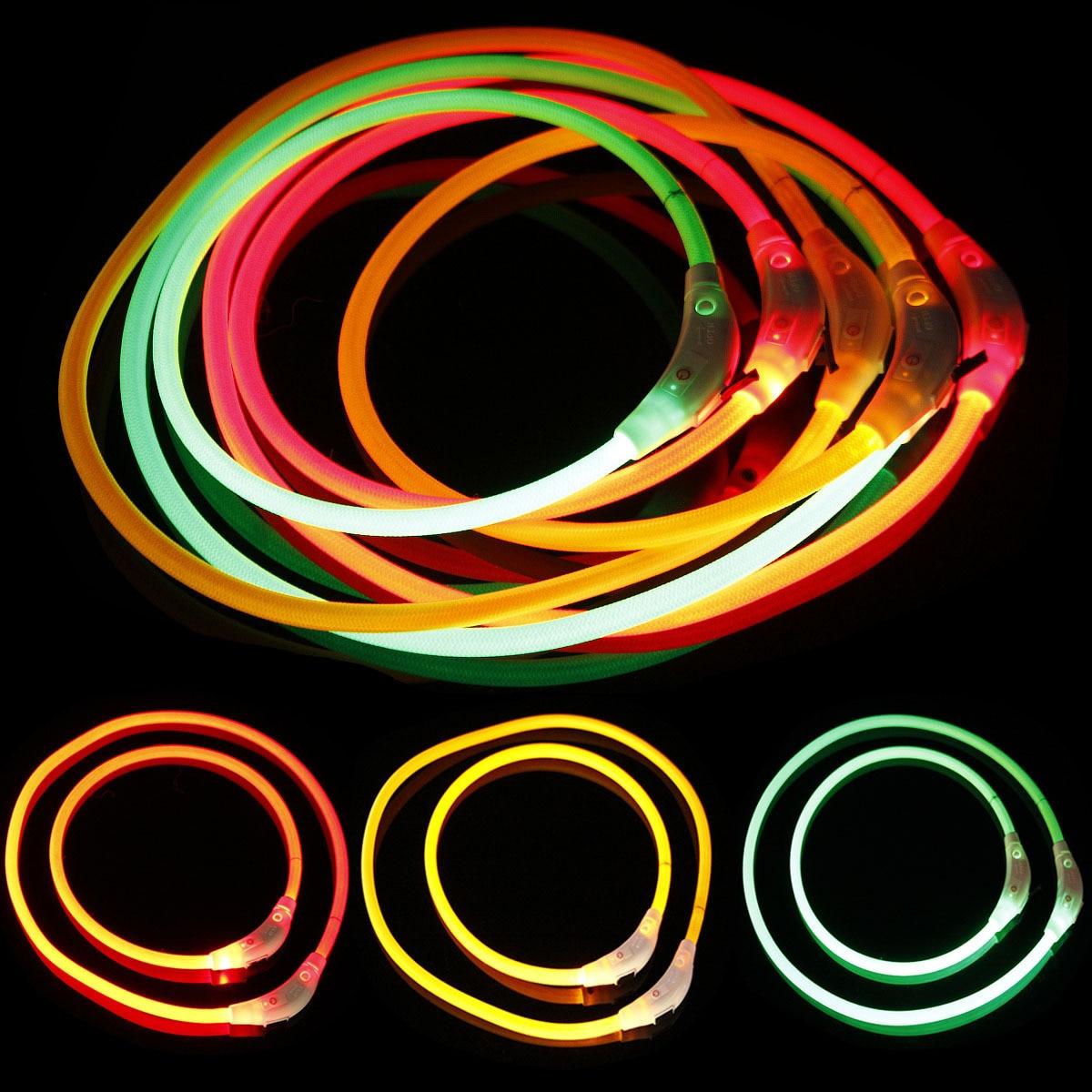 Weaving LED Shining Pet Dog Collar Bite-proof Protector Length 50cm 70cm Hot Sales Dog Luminous Collar