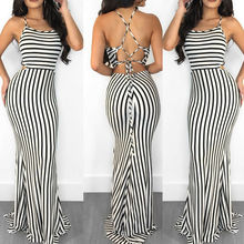 Goocheer New Women Clubwear Pants Summer Playsuit Bodycon Party Jumpsuit Sexy Striped Romper Trousers