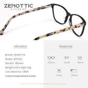 Image 3 - ZENOTTIC asetat kare kadınlar için gözlük çerçeveleri miyopi hipermetrop optik gözlük gözlük çerçeveleri reçete gözlük