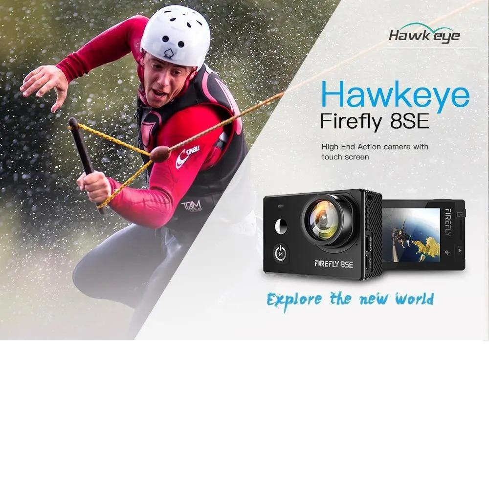 Экшн-камера Hawkeye Firefly 8SE, в наличии, с сенсорным экраном, 4K, 30fps, угол обзора 170 градусов, Bluetooth, FPV, Спортивная Экшн-камера