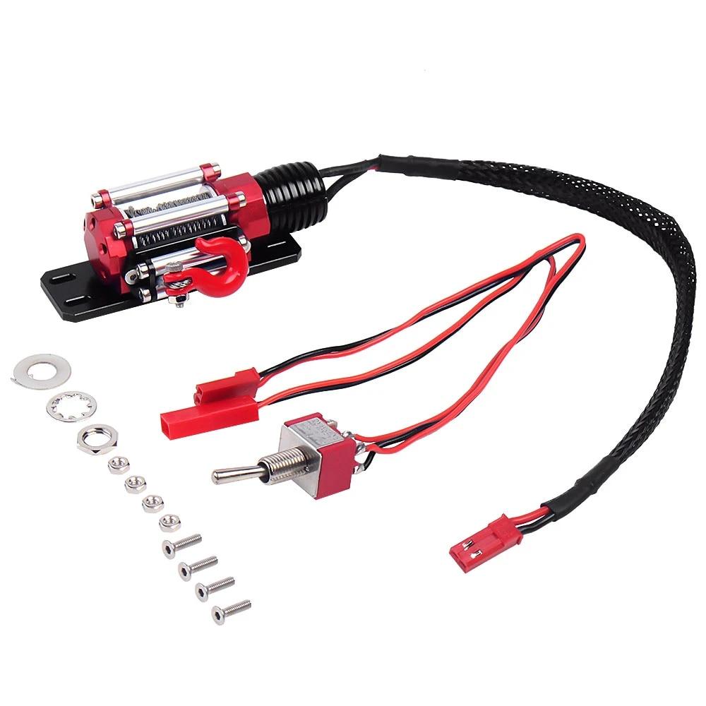 Metal Electric Winch Controller for 1:10 RC SCX10 90046 TRX4 D90 RC Car Crawler