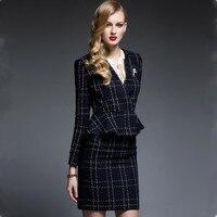 Skirt Suits Office Lady Two Piece Set Women Business Formal Work Wear Elegant Female OL 2020 New Arrival Uniform Plus Size XXXL
