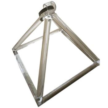 8 Inch Clear Quartz Crystal Singing Pyramid Musical Therapy Yoga Meditation