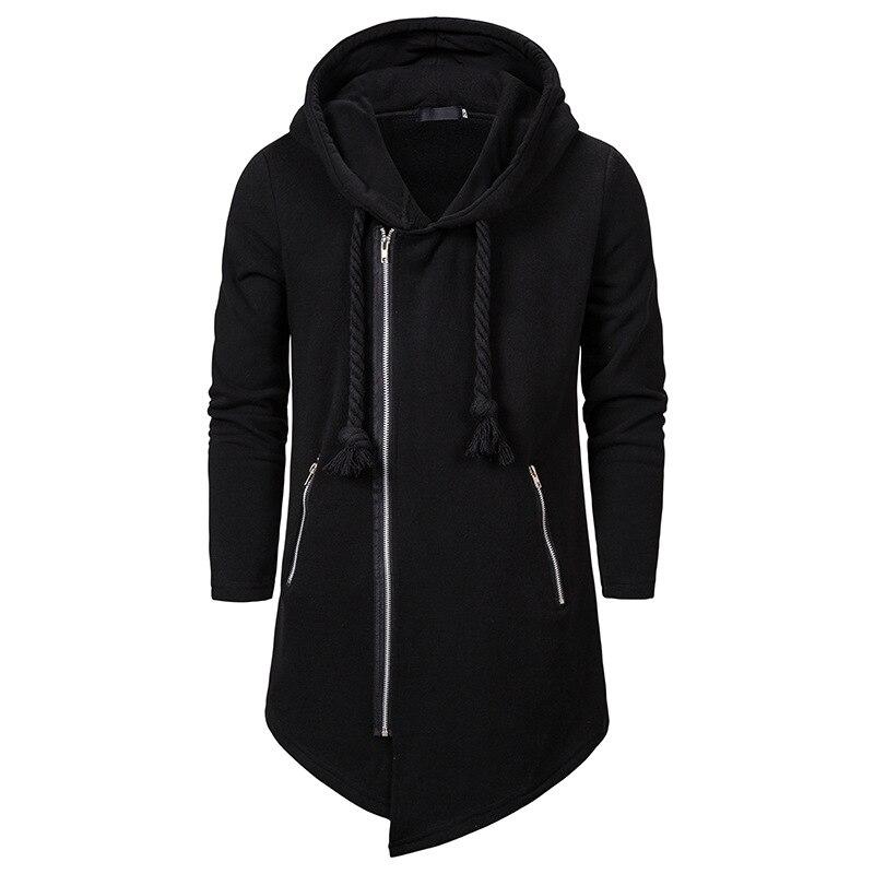 Winter 2019 European And American Fashion Men Assassin Creed Black Series Hoodie Men Casual Wear Loose Irregular Pullover Hoodie
