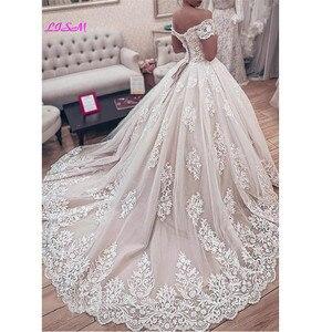 Image 2 - มุสลิมลูกไม้ลูกไม้ชุดแต่งงานชุดGorgeous Sweetheartปิดไหล่Appliquesชุดเจ้าสาวยาวGownsงานแต่งงาน2020