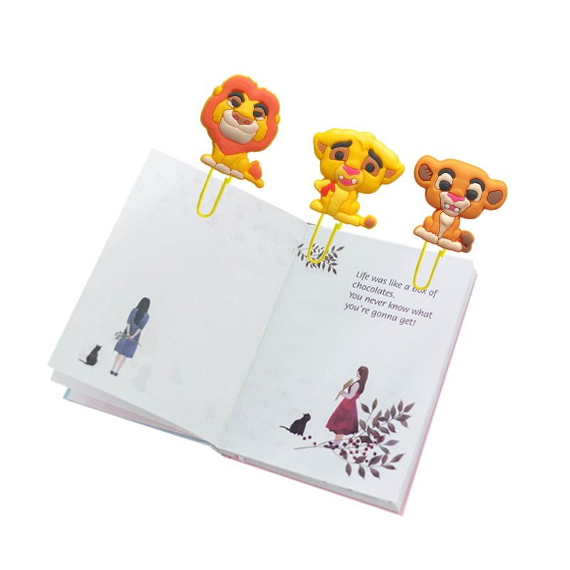 8pcs Lovely Lion Bookmarks For Kids Animal Book Mark Paper Clips Page Holder For School Teacher Office Supply Kids Xmas Gift