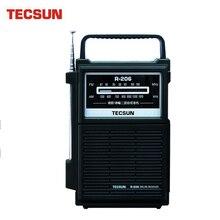 Originale TECSUN R 206 Radio FM / MW Ad Alta Sensibilità Ricevitore Radio Desheng R206 Ricevitore Digitale di Trasporto di Goccia per gli anziani