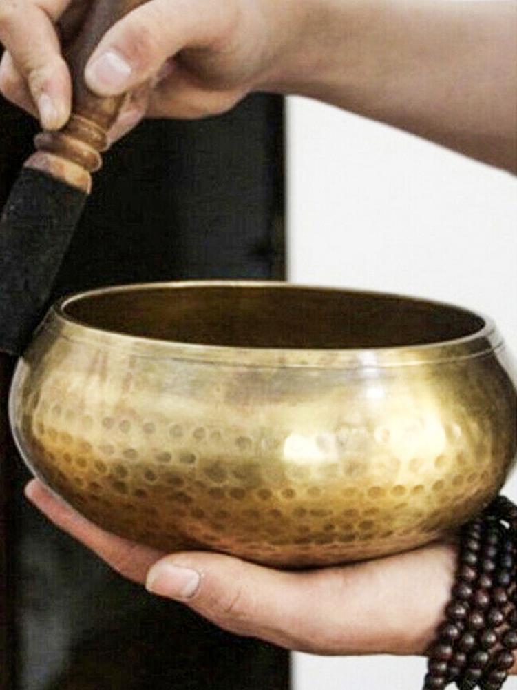 Tibetan Singing Bowl Decorative-wall-dishes Home Buddhism Decoration Buddhis Prayer Meditation Singing Bowl Instrument Gadgets