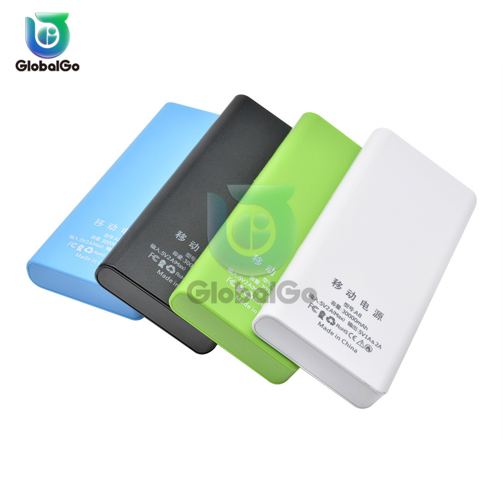 8 Cell 18650 Battery Phone  5V 2A Mobile Power Bank Charger Empty Box