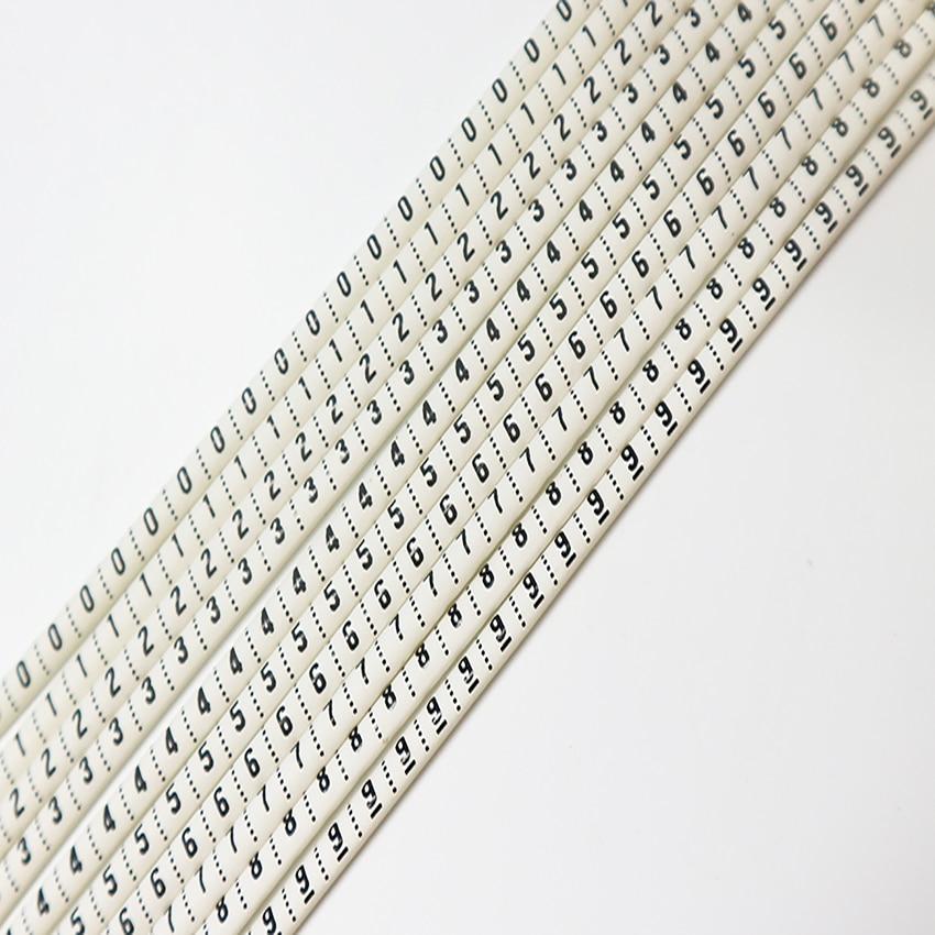 Купить пластиковые термоусадочные трубки маркеры для кабелей номер