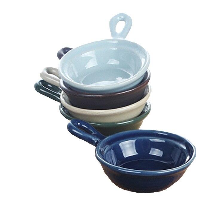 Посуда в японском стиле Цветная глазурь керамическая тарелка многофункциональная кухонная приправа для блюд соус уксус блюдо-2