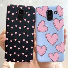 Dla Samsung Galaxy J6 Plus sprawa miłość serce miękka tylna pokrywa ochronna dla Samsung J6 2018 J6Plus 2018 J 6 Plus J610 J610F Fundas