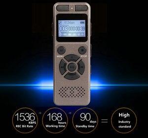 Image 2 - Dijital ses ses aktif kaydedici kulaklık kayıt MP3 HIFI Stereo 1536KPS WAV kayıt cihazı için gri İş gri