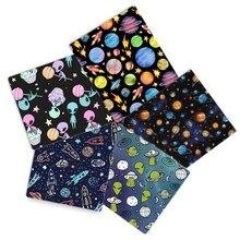 David acessórios planeta espaço poliéster tecido de algodão para tecido crianças casa têxtil cortina costura tilda, c13746