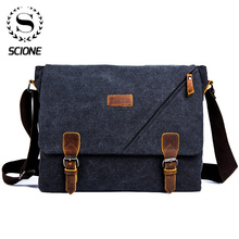 Scione Mens Messenger Bag Briefcase  Vintage Canvas Shoulder Bags Fashion Crossbody Bags For Men Bag