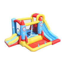 Rocket Party Inflatable Bouncy Castle Bounce House for Kids Indoor Jump Combo Bouncer with Double Slide and Water Pool tarpaulin inflatable bouncy castle bouncer for children party indoor