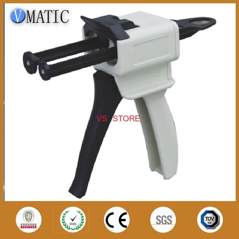 Free Shipping Glue Mixing Dispensing Caulking Cartridge Gun Ab Glue 50ml/cc Radio 1:1 1:2