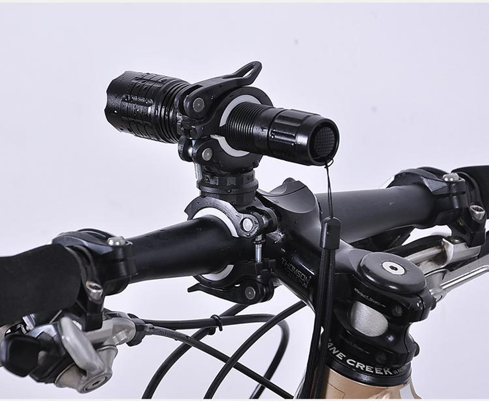 Вращающийся на 360 градусов велосипедный светильник Кронштейн Держатель для велосипедной лампы светодиодный фонарь головной светильник подставка для насоса быстросъемное крепление