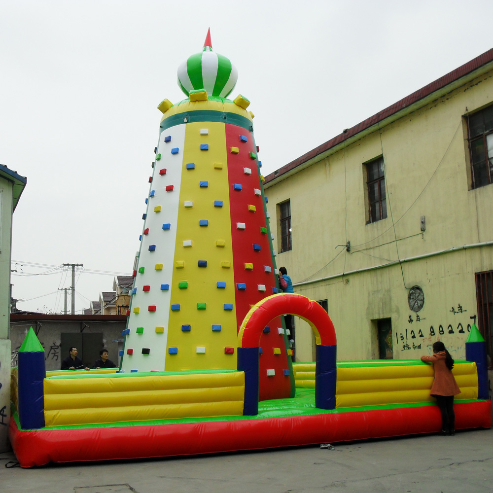 inflatable climbing wall kids entertainment in amusement park