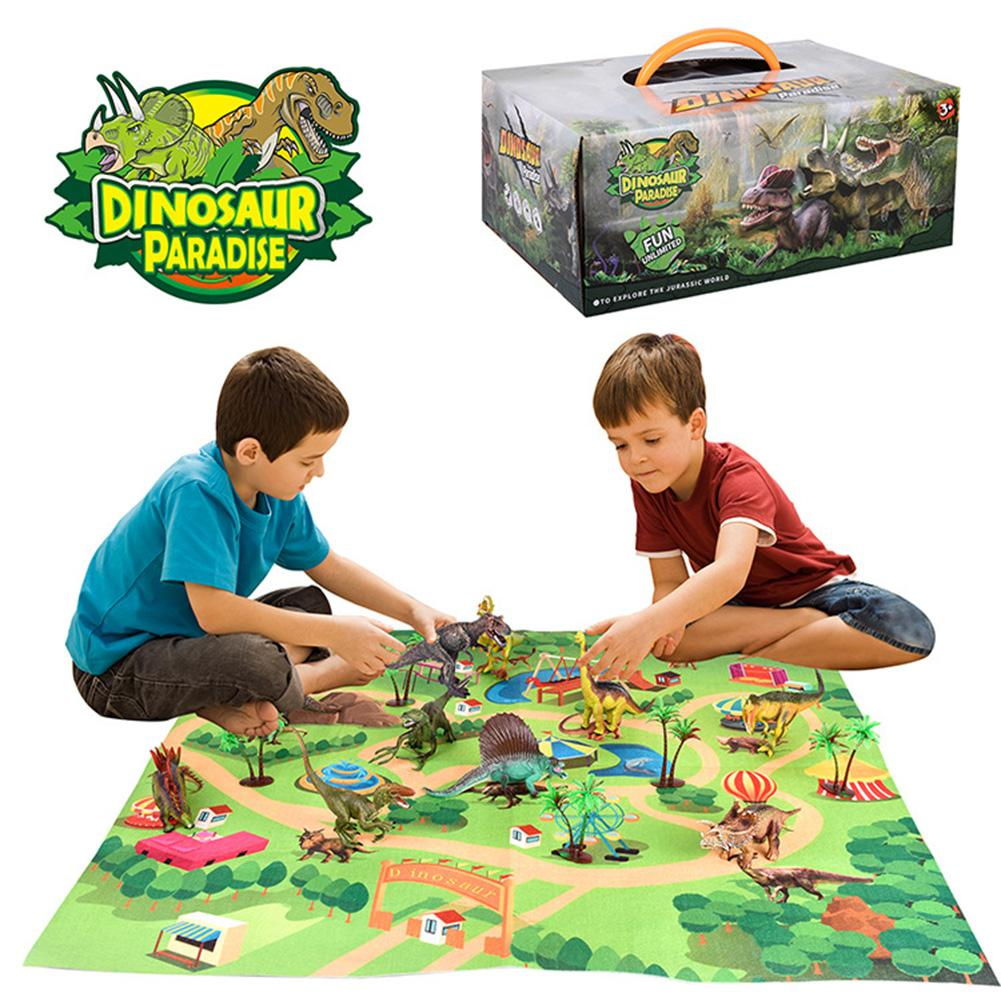Funny Dinosaur Models Amusement Scene Play Mat Rug Carpet Kids Development Toy