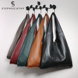 Image 5 - SC Brand Designer Big Genuine Leather Tote Bag Women Vintage Casual Leather Shopping Bag Leisure Shoulder Bag Large Handbag hobo