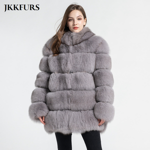 Image 3 - Womens Real Fox Fur Coat Fashion Style 2019 New Arrivals High Quality Winter Thick Warm Fur Jacket Outerwear S7362