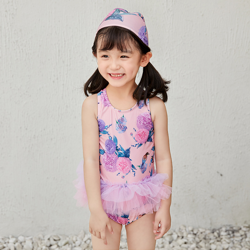 New KID'S Swimwear GIRL'S Little Princess South Korea Girls Baby 1--3-Year-Old Children Tour Bathing Suit Skirt Bikini