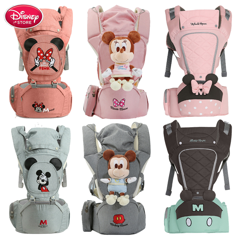 Disney Baby Carrier Infant Kid Baby Hipseat Sling Front Facing Kangaroo Baby Wrap Carrier For Baby Care Mummy Travel Bags