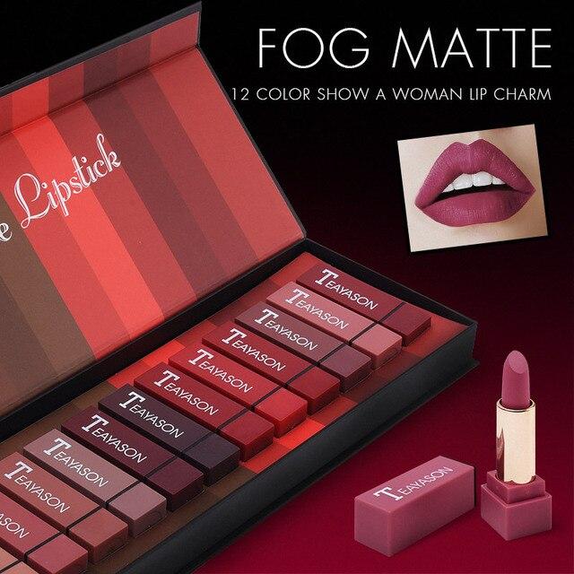 2020 Heart Shape Lipstick 12 Colors a set Velvet Sexy Matte Lipstick Makeup Waterproof Lasting Metallic Beauty Lipsticks Makeup 1