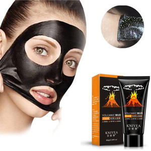 Volcanic Mud Blackhead Cleaning Cream Shrink Pores Removing Black Head Remover Face Mask Mineral Acne Masks Skin Care TSLM1