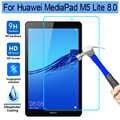 화웨이 mediapad m5 lite 8 8.0 용 9 h hd 강화 유리 화웨이 m5 lite 8 용 JDN2-L09 화면 보호기 태블릿 화면 보호기