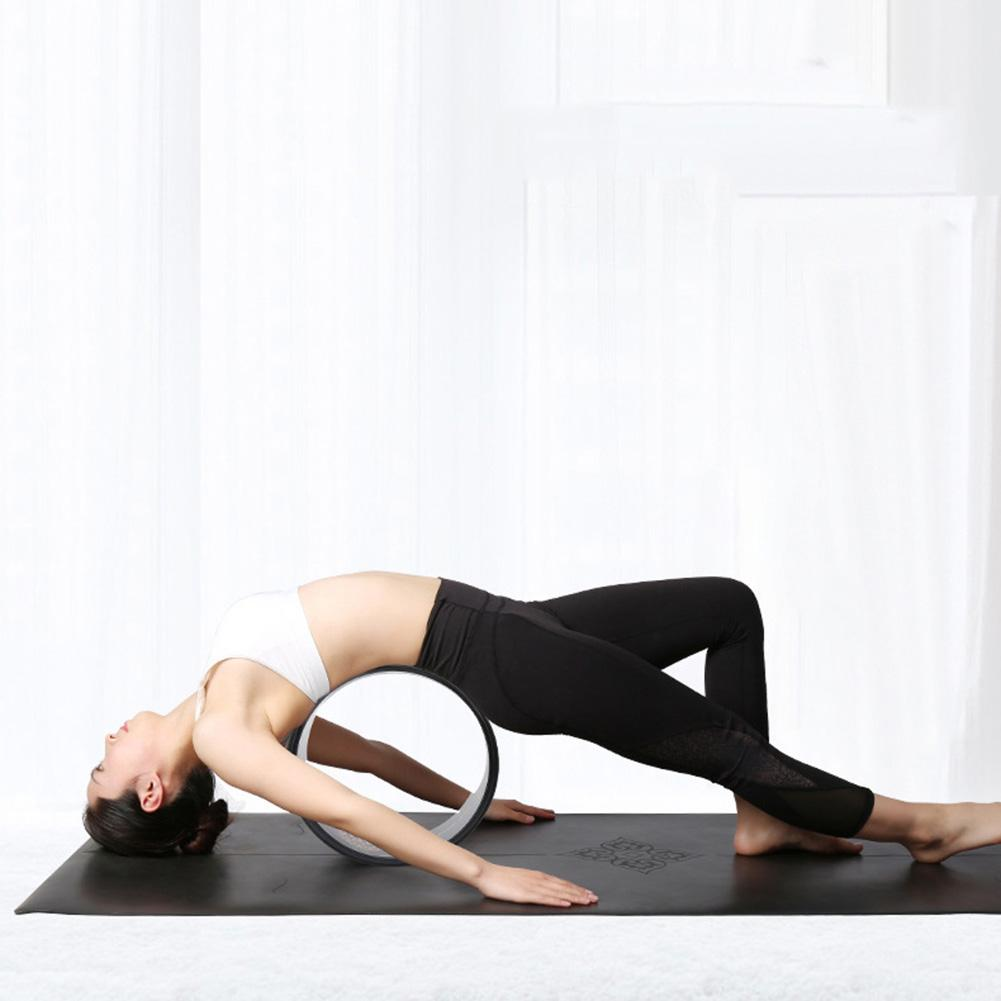 Yoga Wheel - Strongest Most Comfortable Dharma Prop for Poses, Perfect Foam Roller For Stretching, Increasing Fl